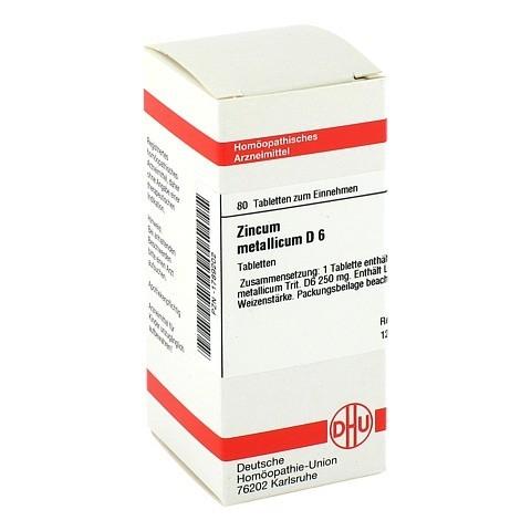 ZINCUM METALLICUM D 6 Tabletten 80 Stück N1