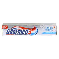 ODOL MED 3 Extra White Zahnpasta 100 Milliliter - Oberseite