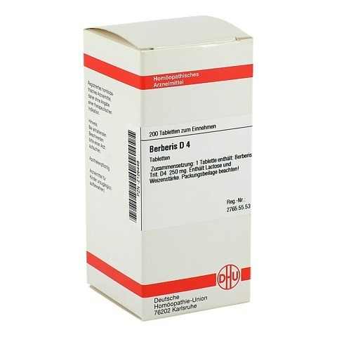 BERBERIS D 4 Tabletten 200 Stück N2