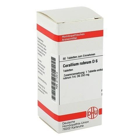 CORALLIUM RUBRUM D 6 Tabletten 80 Stück N1
