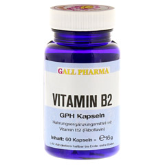 VITAMIN B2 GPH 1,6 mg Kapseln 60 Stück