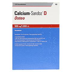Calcium-Sandoz D Osteo 500mg/1000I.E. 120 Stück N3 - Rückseite