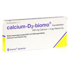 CALCIUM D3 biomo Kautabletten 500+D 20 Stück