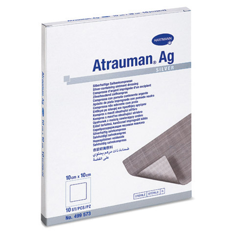 ATRAUMAN Ag 10x10 cm steril Kompressen 10 St�ck