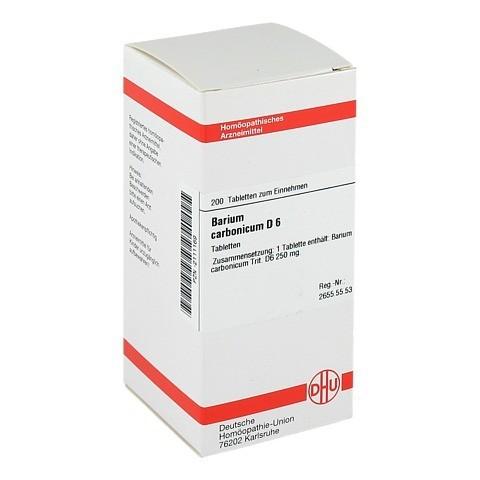 BARIUM CARBONICUM D 6 Tabletten 200 St�ck N2