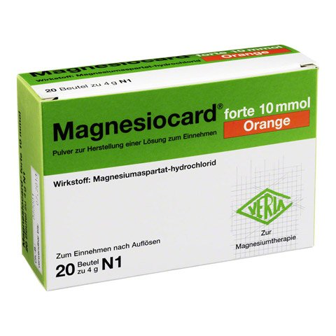 MAGNESIOCARD forte 10 mmol Orange Plv.z.H.e.L.z.E. 20 Stück N1