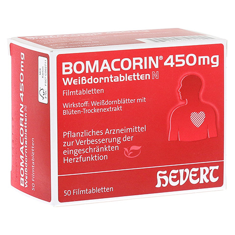 Bomacorin 450mg Weißdorntabletten N 50 Stück N2