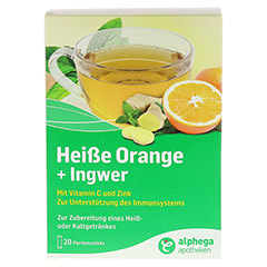 ALPHEGA heiße Orange+Ingwer Pulver 20x5 Gramm - Vorderseite