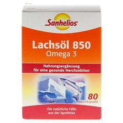 SANHELIOS Lachsöl 850 Omega-3 Kapseln 80 Stück - Vorderseite