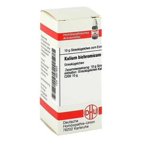 KALIUM BICHROMICUM C 200 Globuli 10 Gramm N1