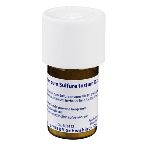 EQUISETUM CUM Sulfure tostum D 3 Trituration 20 Gramm N1