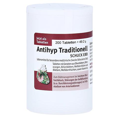 ANTIHYP Traditionell Schuck überzogene Tab. 200 Stück