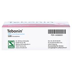 Tebonin 120mg bei Ohrgeräuschen 120 Stück N3 - Unterseite