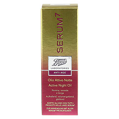 BOOTS LAB SERUM7 Active Night Oil 30 Milliliter - Rückseite