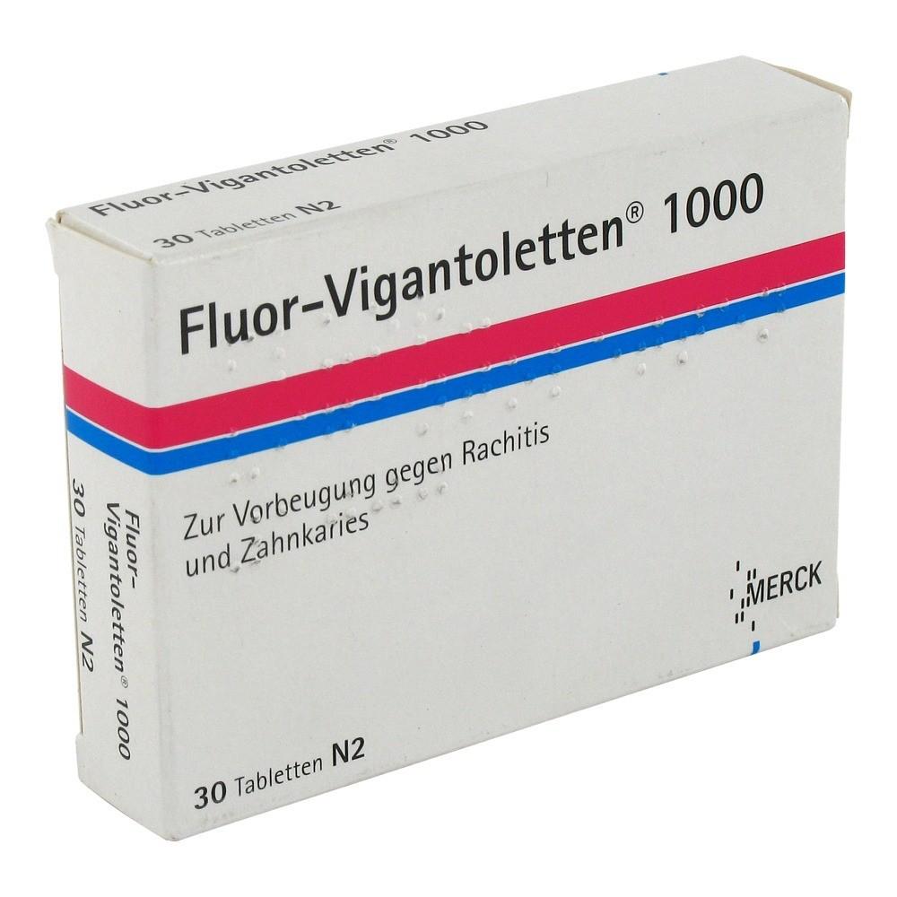 Merck Selbstmedikation GmbH Fluor-Vigantoletten 1000I.E. Tabletten 30 Stück