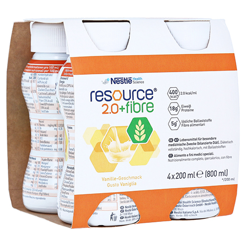 RESOURCE 2.0 fibre Vanille 4x200 Milliliter