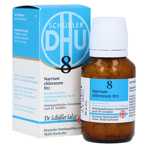BIOCHEMIE DHU 8 Natrium chloratum D 12 Tabletten 200 Stück N2