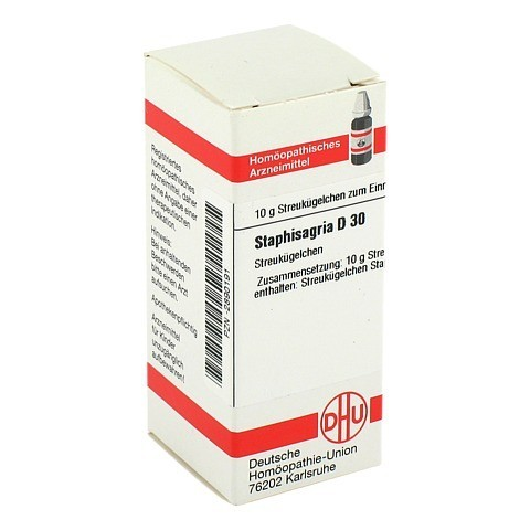 STAPHISAGRIA D 30 Globuli 10 Gramm N1