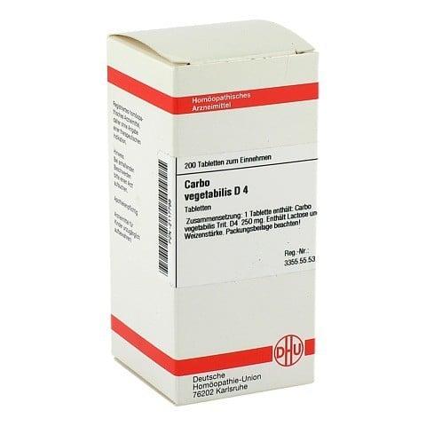CARBO VEGETABILIS D 4 Tabletten 200 St�ck N2