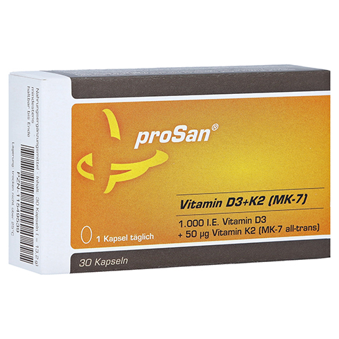 PROSAN Vitamin D3+K2 MK-7 Kapseln 30 Stück