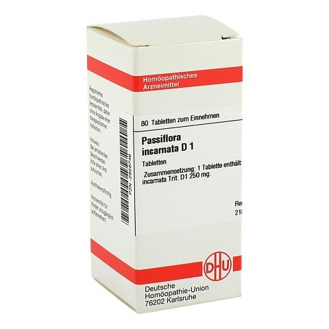 PASSIFLORA INCARNATA D 1 Tabletten 80 Stück N1