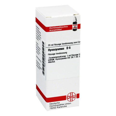 HYOSCYAMUS D 6 Dilution 20 Milliliter N1