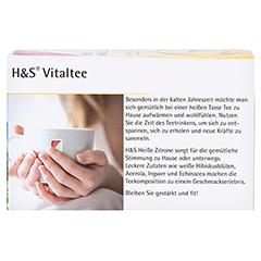 H&S heiße Zitrone Vitaltee Filterbeutel 20 Stück - Rückseite