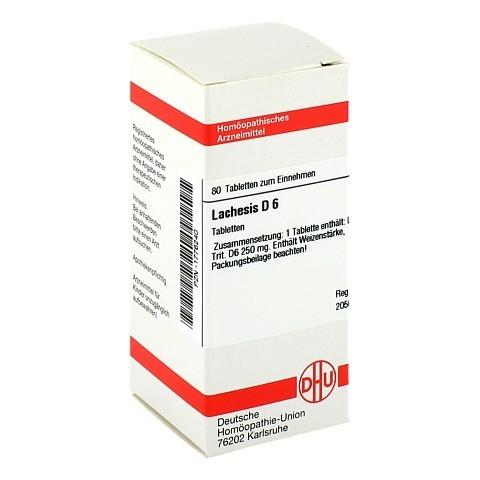 LACHESIS D 6 Tabletten 80 Stück N1