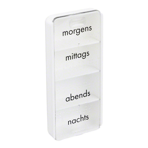TABLETTENDOSE morgens/mittags/abends/nachts 1 Stück