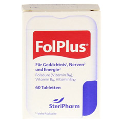 FOLPLUS laktosefrei Tabletten 60 Stück - Vorderseite