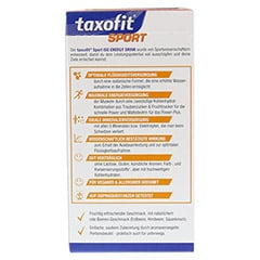 TAXOFIT Sport Iso Energy Drink rote Beeren Port.B. 10 St�ck - R�ckseite