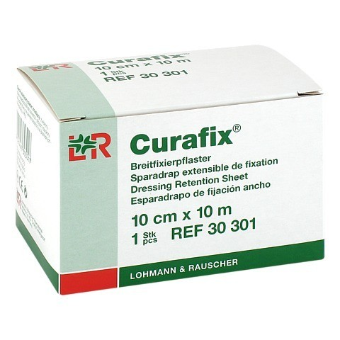 CURAFIX Fixierpflaster 10 cmx10 m 1 Stück