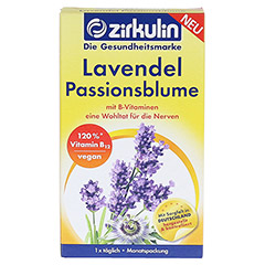 ZIRKULIN Lavendel Passionsblume Kapseln 30 Stück - Vorderseite