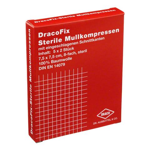 DRACOFIX PEEL Kompressen 7,5x7,5 cm steril 8fach 5x2 Stück