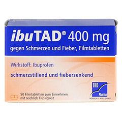 IbuTAD 400mg gegen Schmerzen und Fieber 50 Stück N3 - Vorderseite