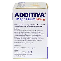 ADDITIVA Magnesium 375 mg Granulat Orange 20 St�ck - Linke Seite