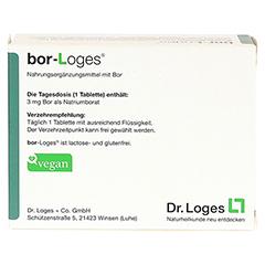 BOR-Loges Tabletten 120 Stück - Rückseite