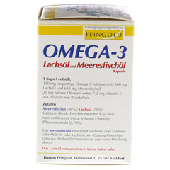 OMEGA 3 Lachsöl und Meeresfischöl Kapseln 100 Stück - Linke Seite