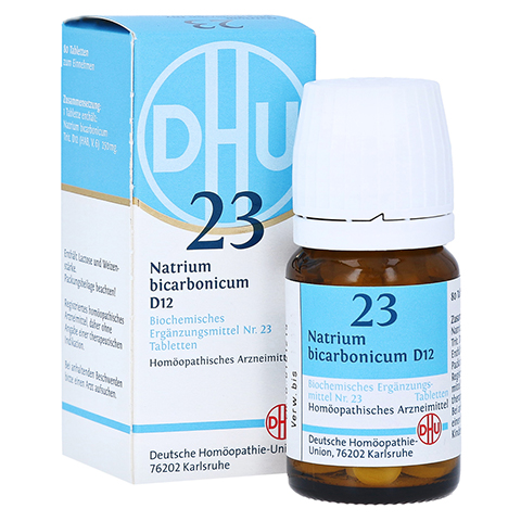 BIOCHEMIE DHU 23 Natrium bicarbonicum D 12 Tabl. 80 St�ck