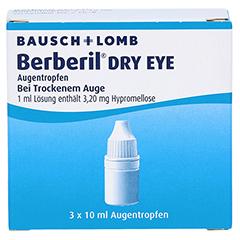 BERBERIL Dry Eye Augentropfen 3x10 Milliliter - Vorderseite