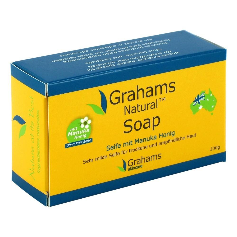grahams natural soap 100 gramm von mdm healthcare deutschland gmbh ean 9332996000056. Black Bedroom Furniture Sets. Home Design Ideas