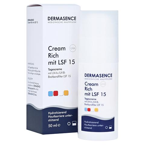 DERMASENCE Cream rich mit LSF 15 50 Milliliter