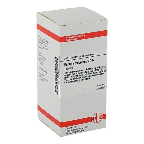 FUCUS VESICULOSUS D 6 Tabletten 200 Stück N2