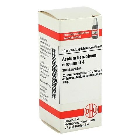 ACIDUM BENZOICUM e Resina D 4 Globuli 10 Gramm N1
