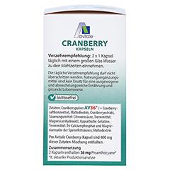 CRANBERRY KAPSELN 400 mg 60 St�ck - Linke Seite