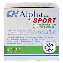 CH ALPHA Sport Trinkampullen 30 Stück - Rechte Seite