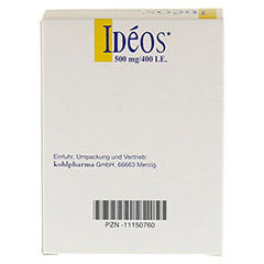IDEOS 500 mg/400 I.E. Kautabletten 90 St�ck - R�ckseite