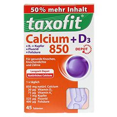 TAXOFIT Calcium 850+D3 Depot Tabletten 45 St�ck - Vorderseite