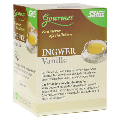 INGWER VANILLE Tee Bio Salus Filterbeutel 15 Stück