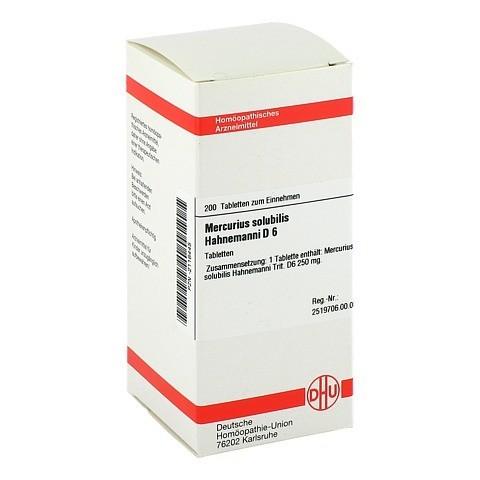 MERCURIUS SOLUBILIS D 6 Tabletten Hahnemanni 200 St�ck N2